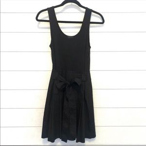 Theory Black Samian Fit and Flare Dress Size 6